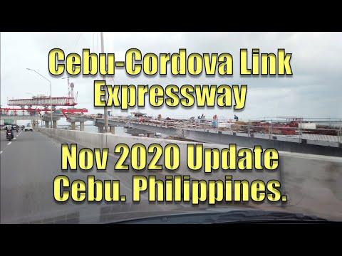 Cebu-Cordova Link Expressway Nov 2020 Update. Cebu Philippines.