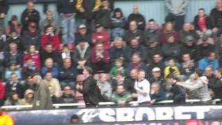 West Ham Fans Do The Conga - 28th April 2012 - Last Game Of The Season