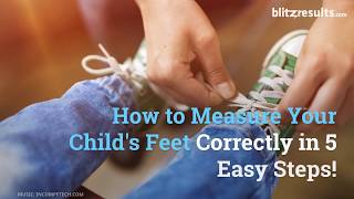 How to measure your kids shoe size?