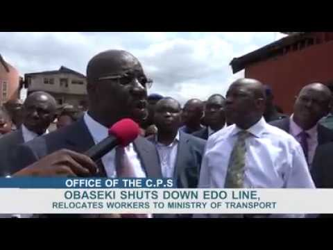 Gov Obaseki Shuts down Edo Line, relocates workers to ministry of transport #Businessamlive