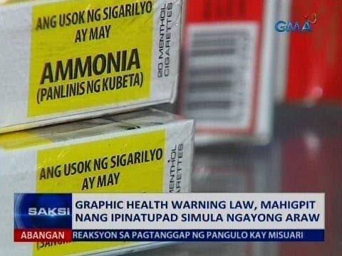 SAKSI: Graphic health warning law, mahigpit nang ipinatupad simula ngayong araw