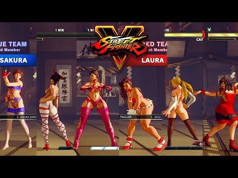 Street Fighter V AE Chun Li/Juri/Sakura vs Laura/Cammy/Karin PC Mod