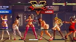 Street Fighter V AE Chun Li/Juri/Sakura vs Laura/Cammy/Karin PC Mod