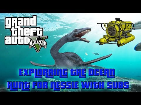 LIVE/ GTA 5 ONLINE OCEAN EXPLORING SEARCH FOR NESSIE WITH SUBS/PS4
