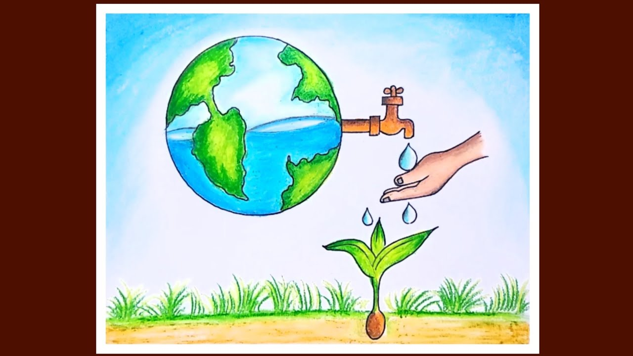 How To Draw Save Water Save Earth Poster World Environment Day