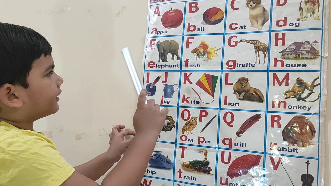 Alphabet Learning ABCD with spelling