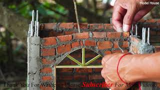 Dream Model House - How To Make a Beautiful MINI-House   BRICK WALL   BRICKLAYING - Part #1