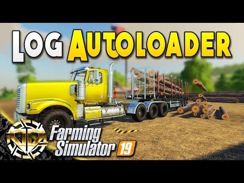 LOG AUTOLOADER TRAILER - LOGGING MADE EASY - Farming Simulator 19
