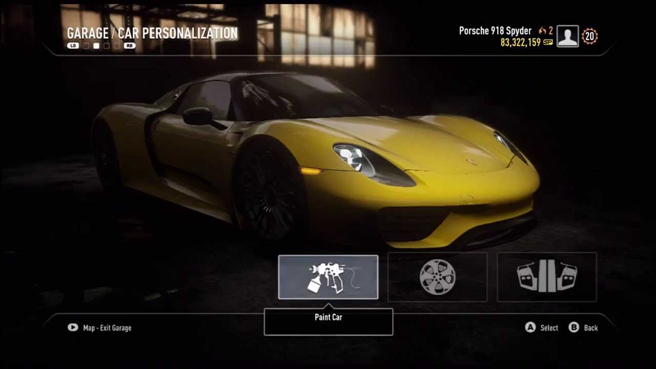 fully customized porsche 918 spyder need for speed rivals. Black Bedroom Furniture Sets. Home Design Ideas