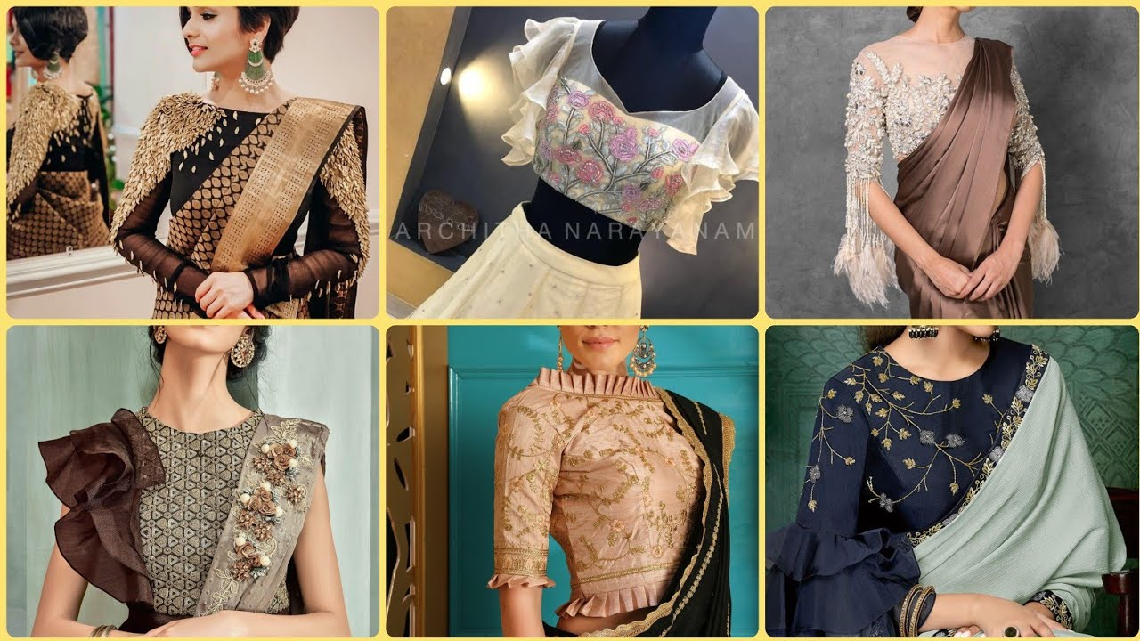 Top Beautiful Trendy Saree Blouse Sleeves Designs Ideas For Women S Youtube
