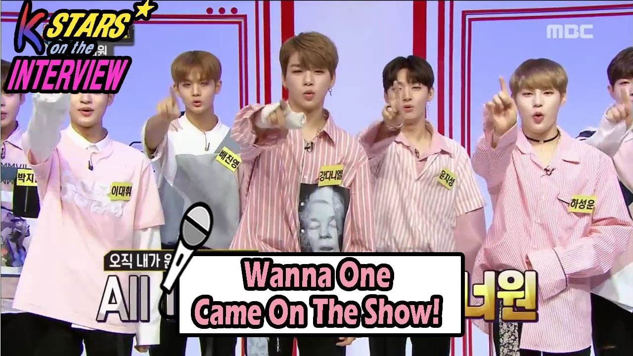 CONTACT INTERVIEW☆] Wanna One On The Show! 20170827 - YouTube