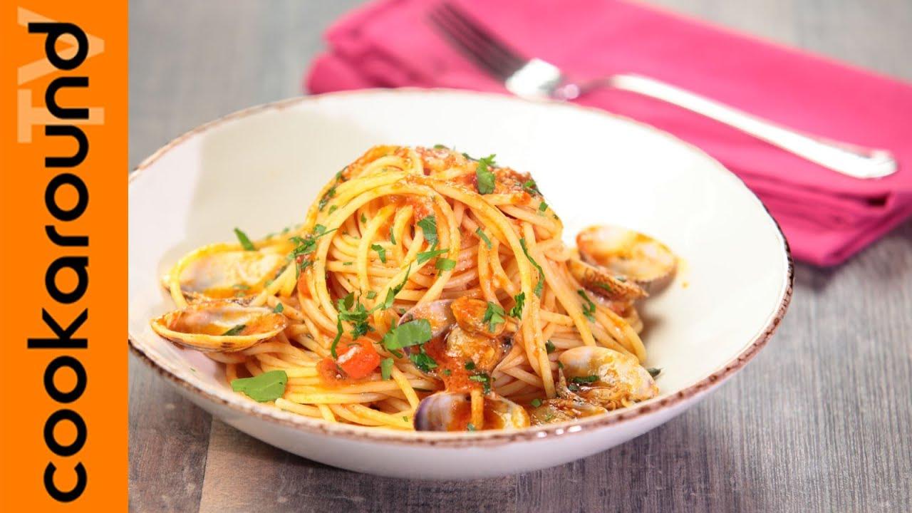 Spaghetti alle vongole in rosso ricette primi piatti for Cucina primi piatti di pesce