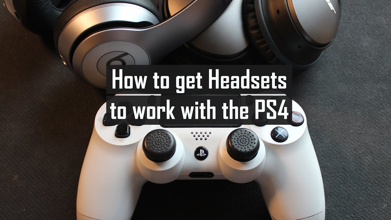 How to get your Bose QC25 or Beats by Dre to work with your PS4 controller  *Fix* *Solution*