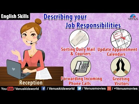 English Skills - Describing your Job Responsibilities