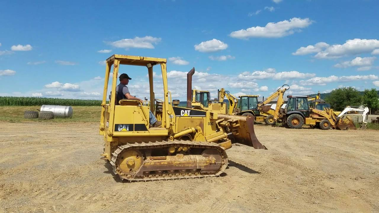 1990 Caterpillar D3C Crawler Tractor Bull Dozer For Sale Operating!