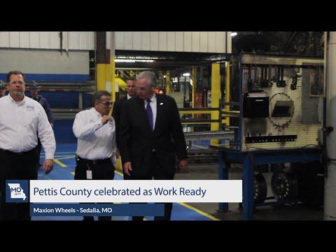 Governor Nixon celebrates Pettis County as Work Ready