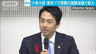 小泉大臣が国際会議に出席 プラごみ対策を英語で(19/10/09)