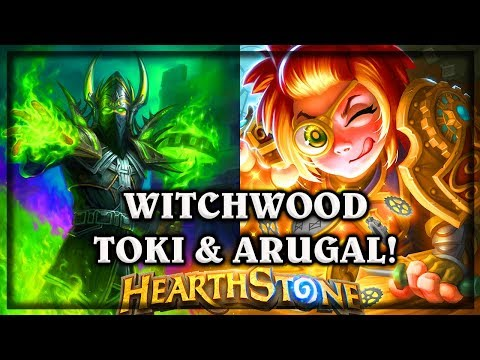 Toki Time Tinker and Archmage Arugal ~ The Witchwood Expansion Hearthstone