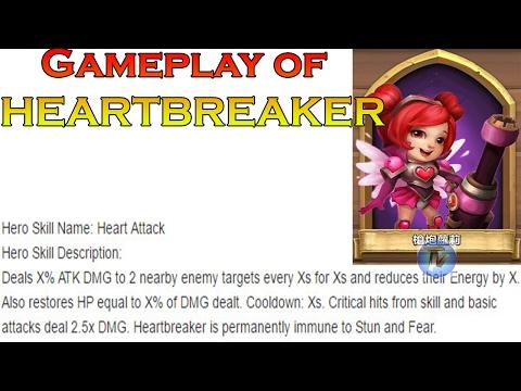Castle Clash - Gameplay Of HEARTBREAKER! Non-evo [New Hero Update]
