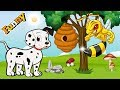 Dogs Cartoons for Children - Funny Dogs and Bees - Dogs Videos for Kids 2017