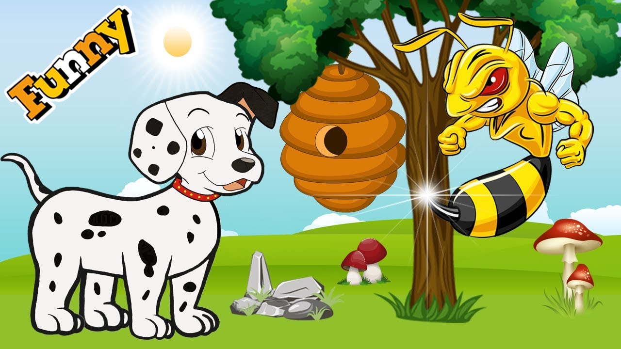 Dogs Cartoons for Children - Funny Dogs and Bees - Dogs ...