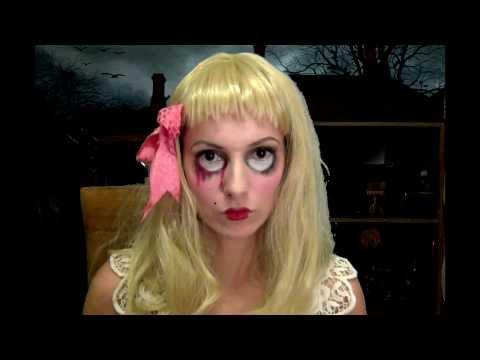 professionale più votato donna modellazione duratura Halloween makeup tutorial: La bambola assassina - YouTube