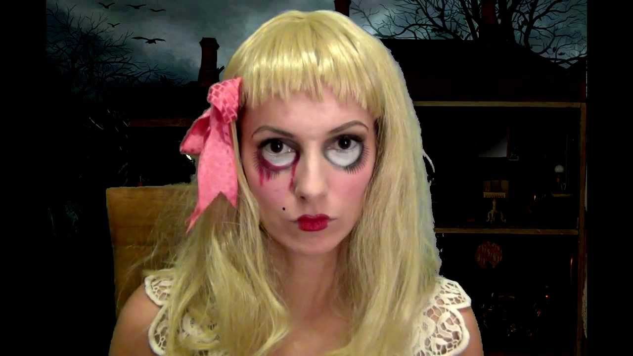 halloween makeup tutorial la bambola assassina youtube