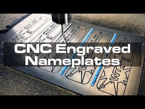 CNC-Engraved Aluminum Nameplates