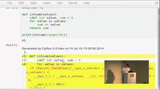 Stefan Behnel - The Cython Compiler for Python(Stefan Behnel - The Cython Compiler for Python [EuroPython 2014] [22 July 2014] The Cython compiler is the most widely used static compiler for Python., 2014-09-13T18:38:57.000Z)