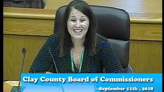 B180911A -09/11/18 - Clay County MN Board of Commissioners