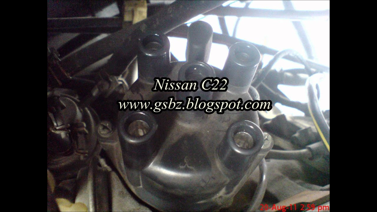 maxresdefault nissan vanette c22 distributor wmv youtube nissan vanette c22 ignition wiring diagram at nearapp.co