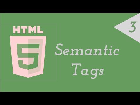 Intro to HTML 3 - Semantic Markup (1)