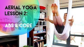Aerial Yoga Lesson 2 - Abs & Core | Beginner-Intermediate | CamiyogAIR
