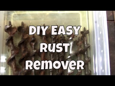 How to easily remove rust from old tools. Amazing DIY results!