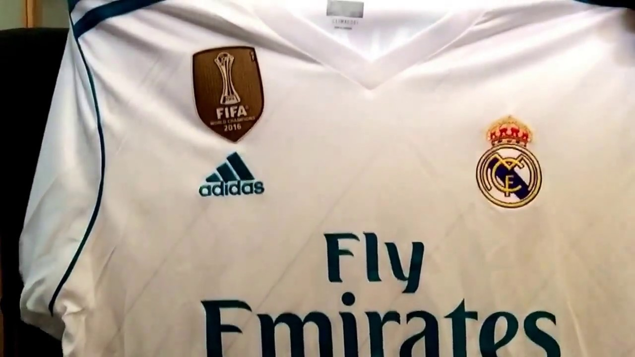 huge discount 89d47 49758 UNBOXING: Real Madrid 2017/18 Home Kit