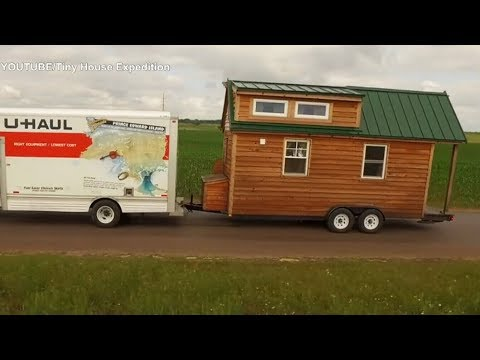Couple travelling across North America in their own tiny home