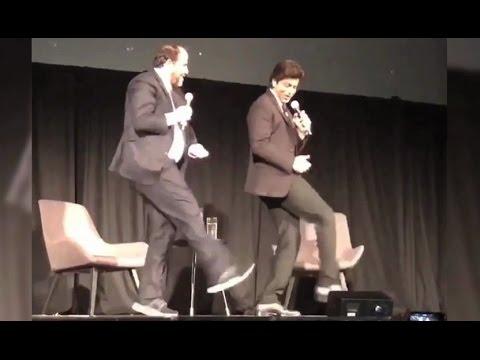 Shahrukh Khan Lungi Dance With Brett Ratner In San Francisco!