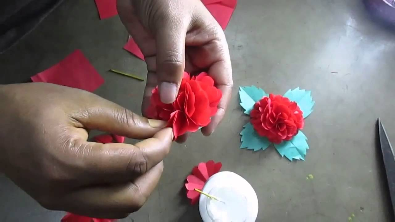 How to make flower by paper cutting art and craft youtube mightylinksfo