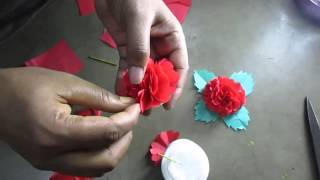 How To Make Flower by Paper Cutting Art and Craft