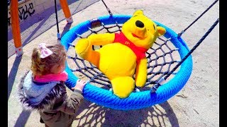 Fun Playground For Kids - Slide and Swing with WINNIE THE POOH