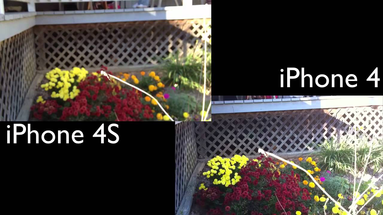 iPhone 4S vs iPhone 4: Cameras - YouTube