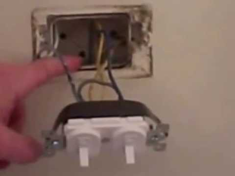 hqdefault how to wire a double switch wiring a switch conduit youtube wiring diagram for double switch at bayanpartner.co