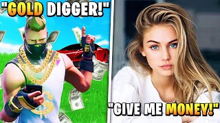 5 Fortnite Gold Diggers Caught By Youtubers!