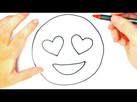 Cómo Dibujar Un Emoji Enamorado Para Niños | Dibujo De Emoji Enamorado