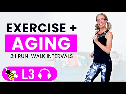 The TRUTH about Exercise + AGING, 20 minute walk + run   Let's RUN Podcast