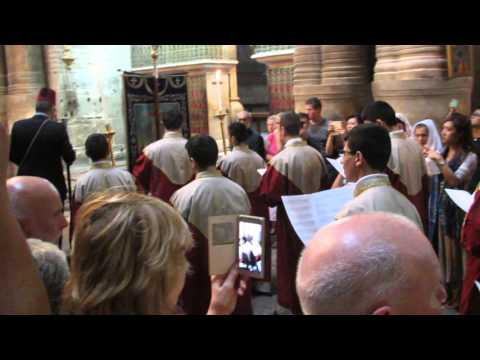 The Divine Liturgy of the Armenian Orthodox Church at the Holy Sepulchre of Church, Jerusalem,