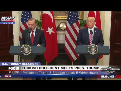 FNN: President Trump and Turkish President Erdogan Deliver Joint Statement at White House (FULL)