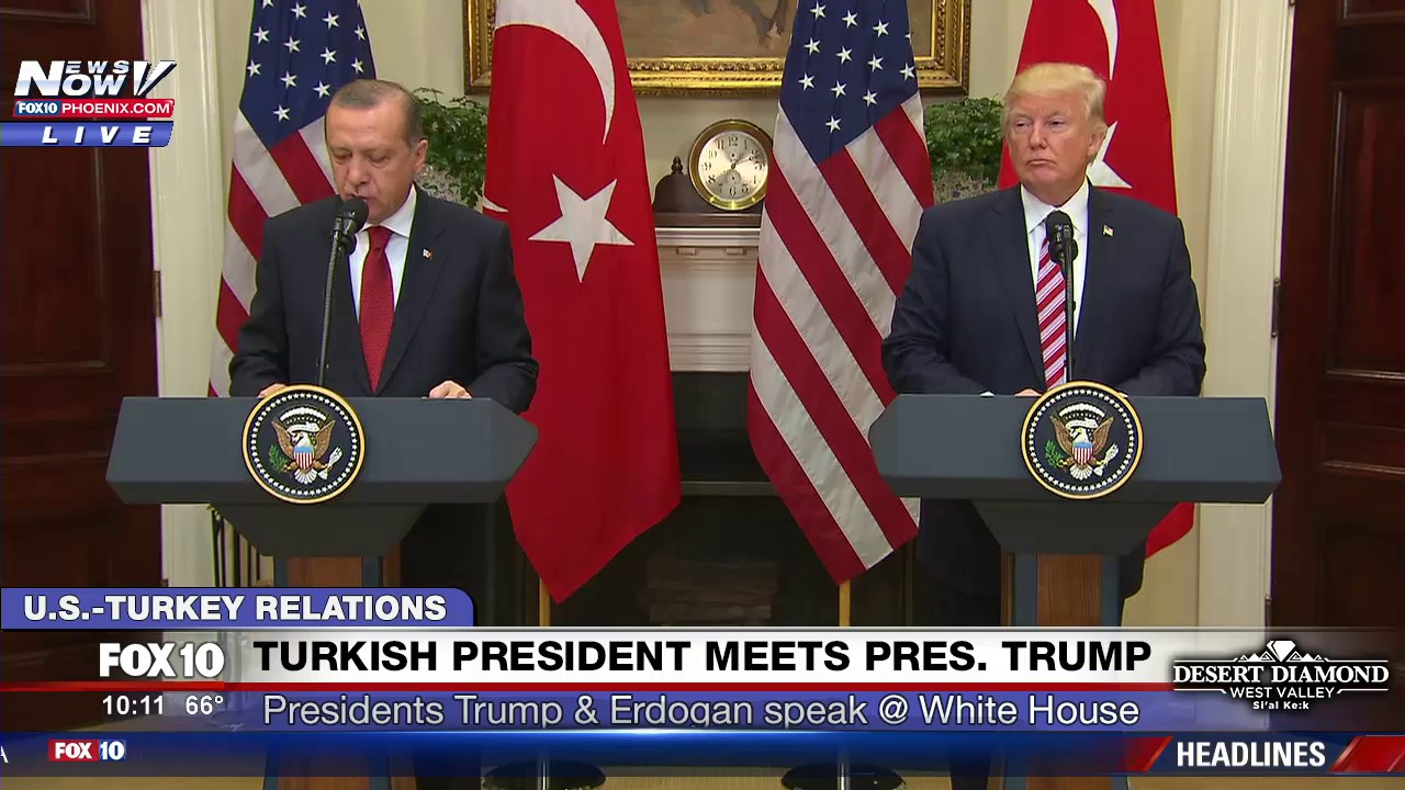 What are the problems Trump told Erdogan he has 'worked hard to solve'?
