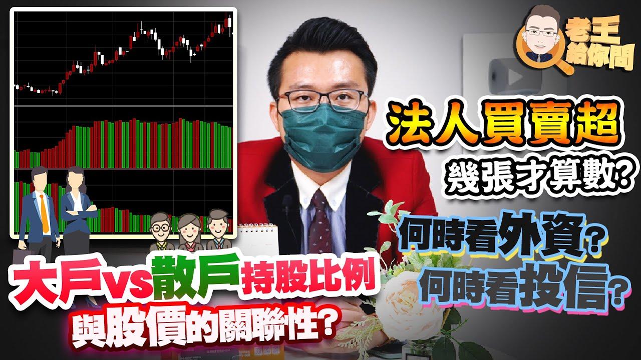 老王給你問 #78 法人買賣超幾張才算數?何時看外資?何時看投信?大戶VS散戶持股比例與股價的關聯性?(最後面有彩蛋!)