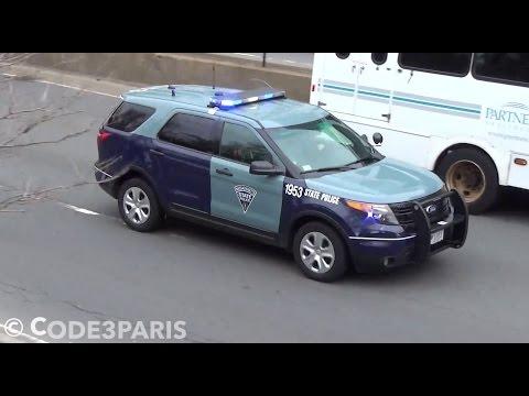Massachusetts State Police Ford Explorers Responding